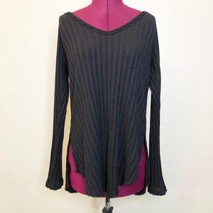 Free People | Rib Knit Long Sleeve Thermal Top